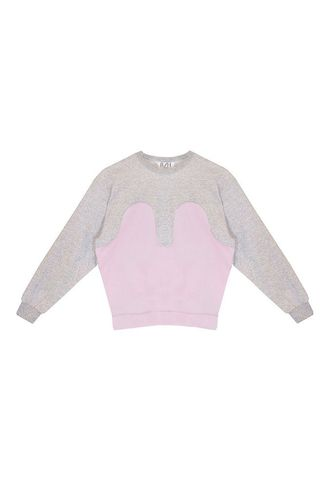 R/H Magic Sweater Light Grey/Baby Pink
