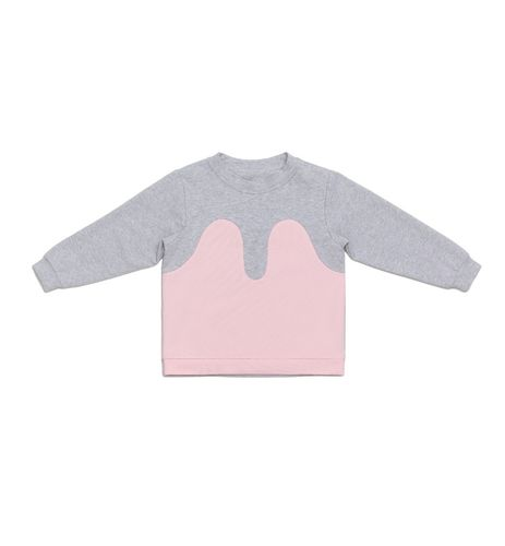 R/H Mickey Sweater Kids Light Grey/Baby Pink