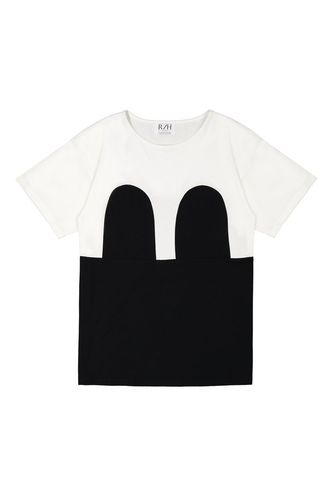 R/H Mickey Loose T-shirt White/Black