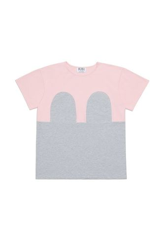 R/H Mickey Loose T-Shirt Baby Pink/Light Grey