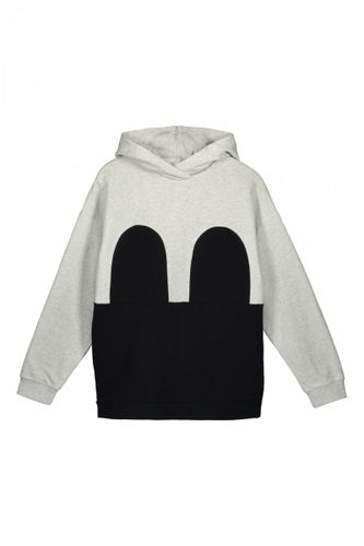 R/H Mickey Hoodie Light Grey/Black