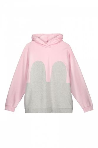 R/H Mickey Hoodie Baby Pink/Light Grey
