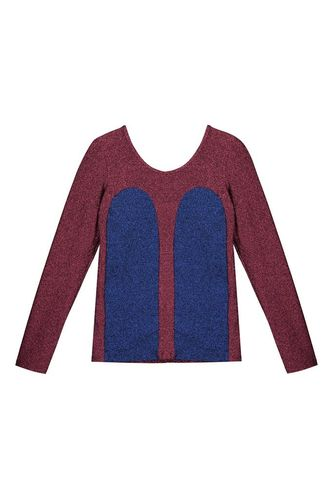 R/H Long Sleeve Mickey Space Blue/Sparkling Red