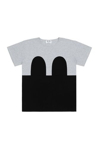 R/H Mickey Loose T-Shirt Light Grey/Black