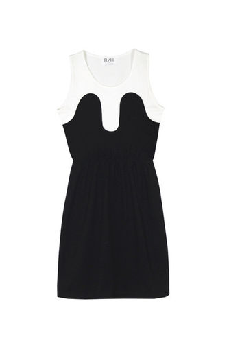 R/H Mickey Magic Summer Dress White/ Black