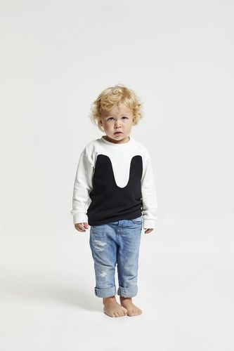 R/H Mickey Magic Sweater Kids Off White/Black
