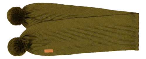 Gugguu Scarf With Tufts Olive Green