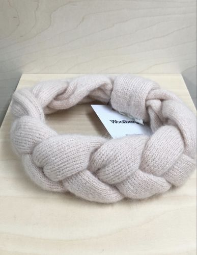 Woolberg Braided Mohair Headband Blush Pink