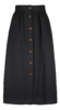 Kaiko Button Skirt Black